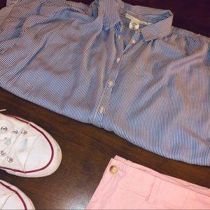H&M Stripped Button Down Blouse
